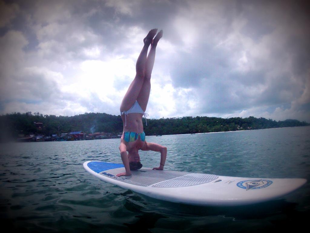 She has Yogi balance